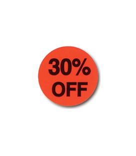 Adhesive Label: 30% OFF