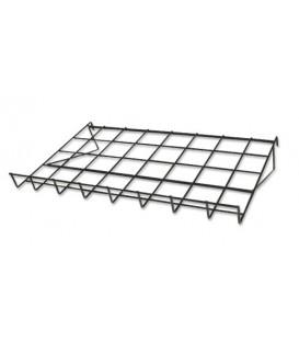 Black Slatgrid Wire Shelf