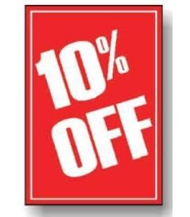 Sale Card: 10% OFF