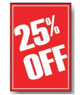 Sale Card: 25% OFF