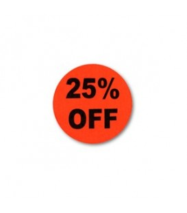 Adhesive Label: 25% OFF