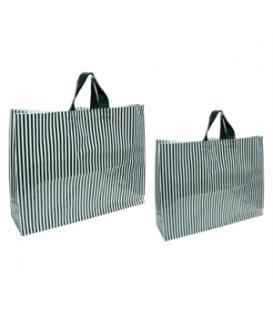 Flexi Loop Bags - Striped - Black & White