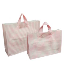 Flexi Loop Bags - Striped - Pink & White