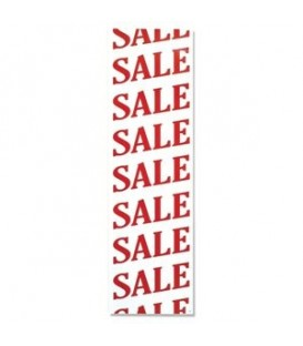 Banner: SALE - Vertical - Angled Print - Red on White