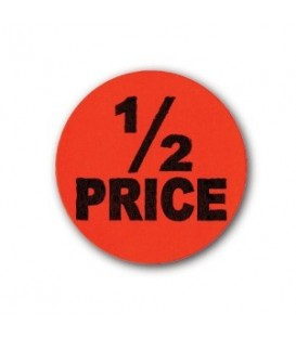 Adhesive Label: 1/2 PRICE