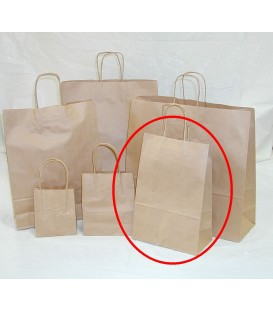 Brown - Small Paper Carry Bag 'Portrait' -