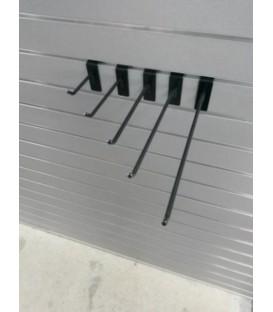Black Slatwall Hooks - Single