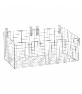 Wide Mesh Basket for Slatwall