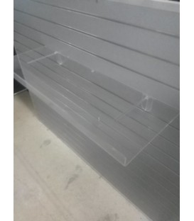 Acrylic Shelf with Lip 1155mmW x 285mmD