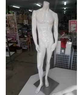Mannequin Male Glossy White