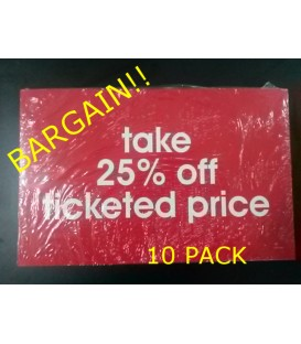 """Take 25% off"" Display Card Pack"