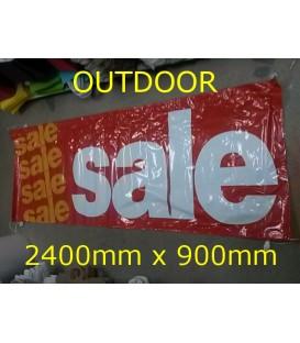 """Sale""  PVC Outdoor Banner 2400x900mm"