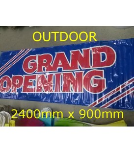 """""""GRAND OPENING""""  PVC Outdoor Banner 2400x900mm"""