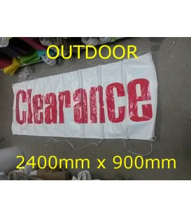 """Clearance""  PVC Outdoor Banner 2400x900mm"