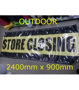 """""""Store Closing""""  PVC Outdoor Banner 2400x900mm"""
