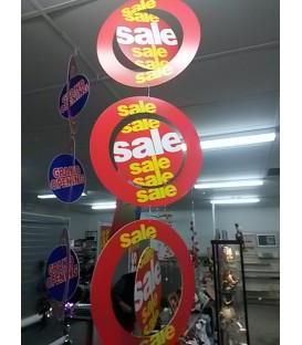 """Sale"" hanging mobile display"
