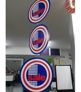 """""""Clearance Sale"""" hanging mobile display"""