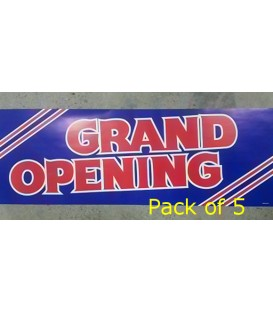 """Grand Opening"" Small Paper Banner"