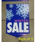"""Winter Sale"" Paper Pennant"