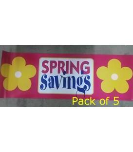 """""""Spring Savings"""" Large Paper Banner"""
