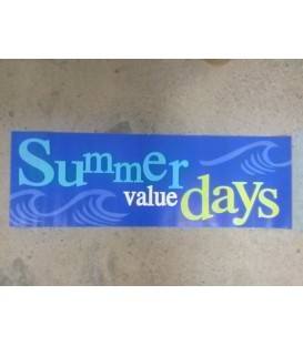 """Summer Value Days"" Small Paper Banner"