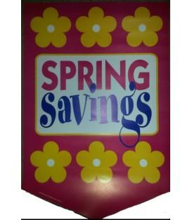 """""""Spring Savings"""" Sale Paper Pennant"""