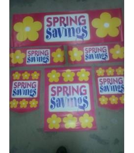 """""""Spring Savings"""" display kit"""