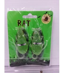 RAT GLOW IN DARK 6.5CM  PKT 2