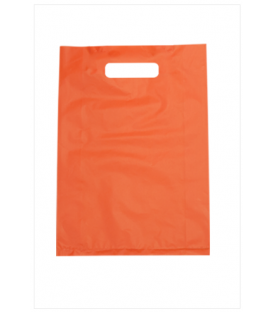 Small Orange Boutique Bags - HDPE