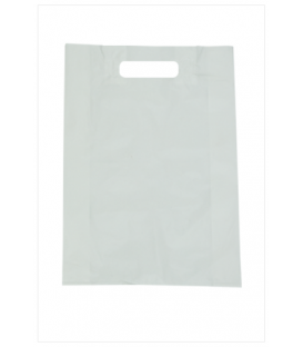 Small White Boutique Bags - HDPE