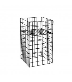 Small Mesh Dump Bin 460x460x760mm High Black