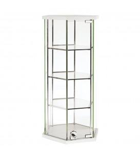Hexagon Glass Counter Showcase White